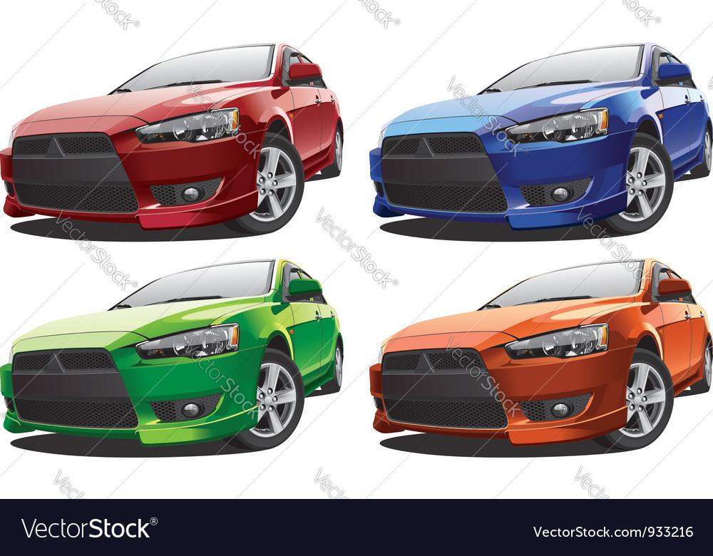 Modern racing car no1 vector | Price: 5 Credit (USD $5)