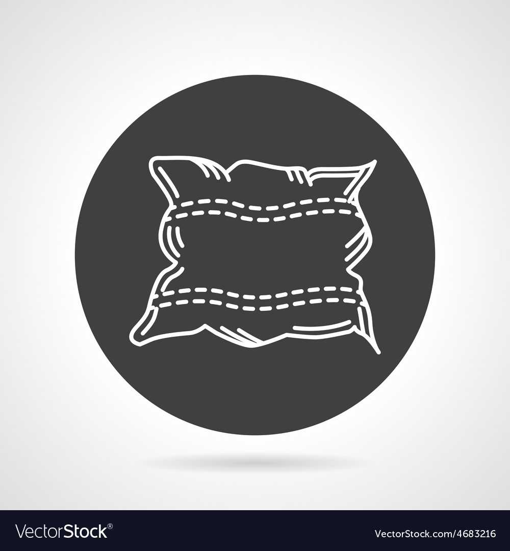 Pillow black round icon vector | Price: 1 Credit (USD $1)