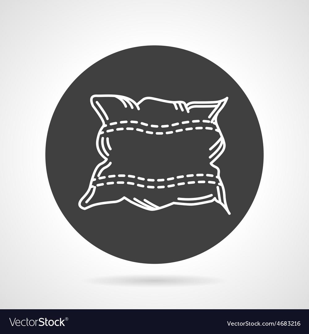 Pillow black round icon vector   Price: 1 Credit (USD $1)