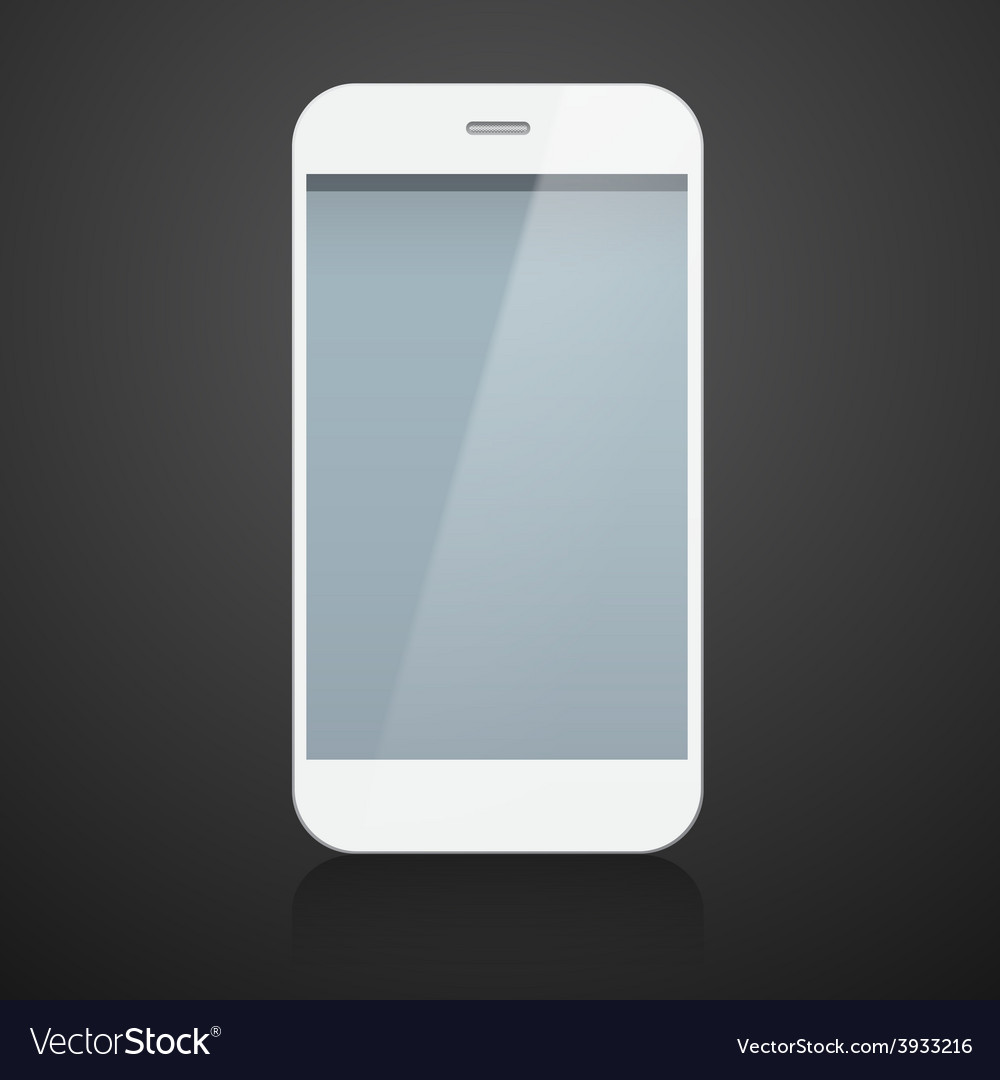 Realistic white smartphone vector | Price: 1 Credit (USD $1)
