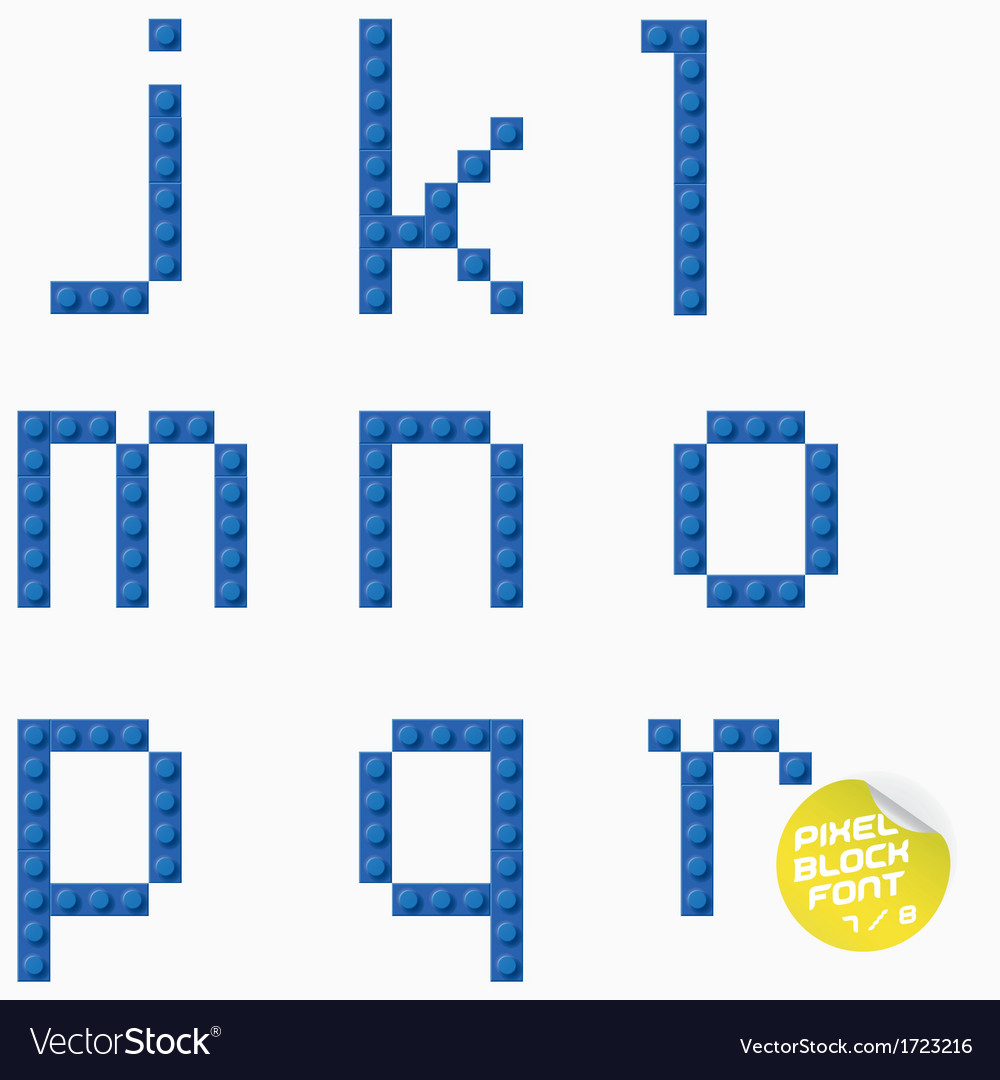 Unique pixel block alphabet vector | Price: 1 Credit (USD $1)