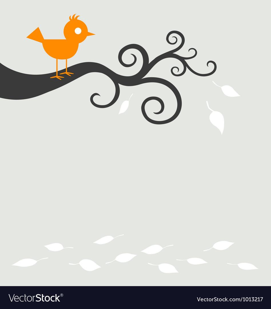 Bird tree autumn vector | Price: 1 Credit (USD $1)