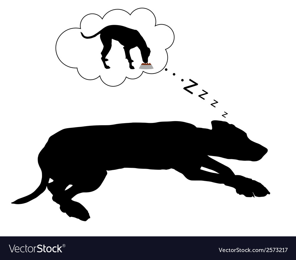 Dog dreams of feeding vector | Price: 1 Credit (USD $1)