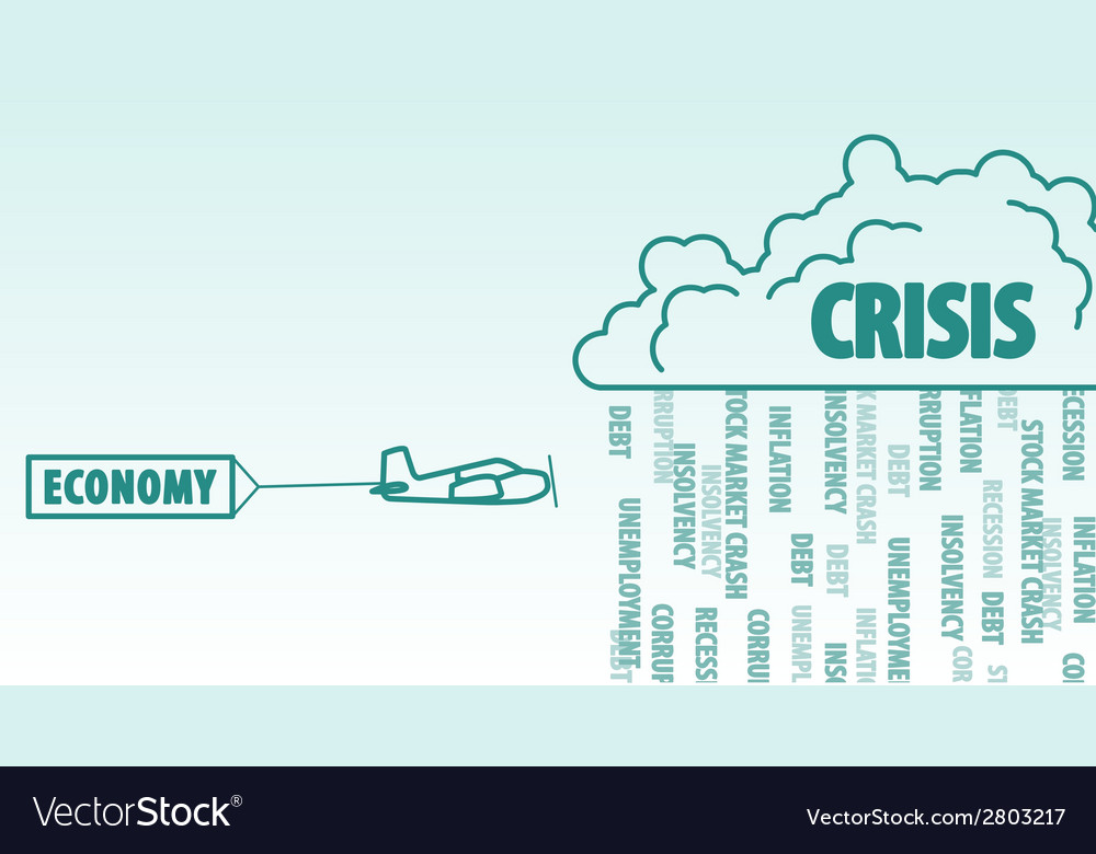 Economy and crisis vector | Price: 1 Credit (USD $1)