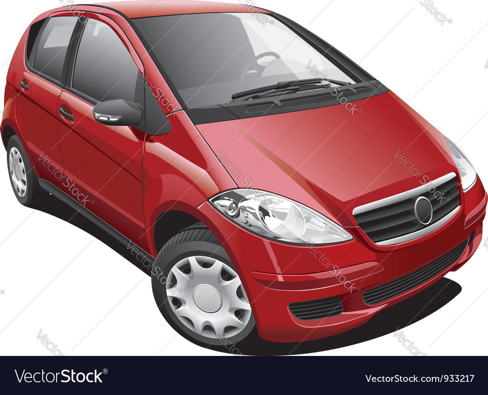 European modern minivan vector | Price: 3 Credit (USD $3)