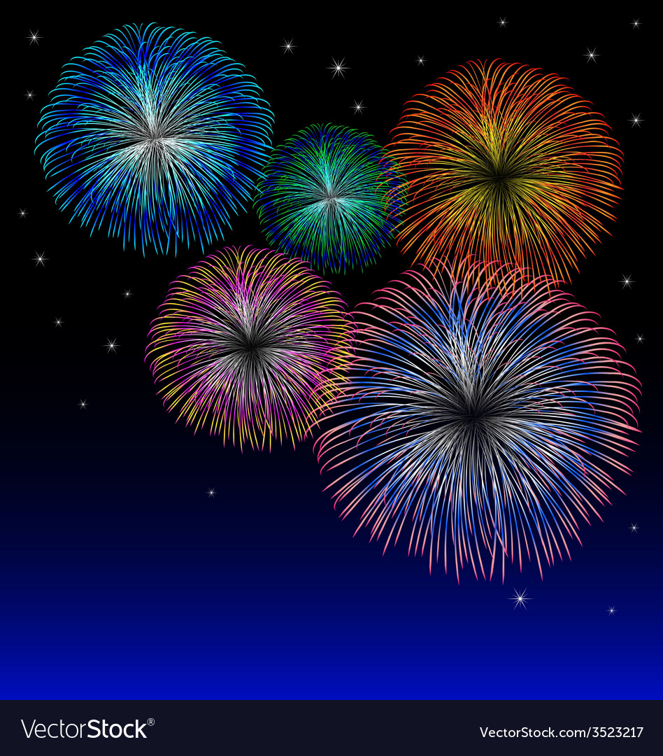 Fireworks background with star vector | Price: 1 Credit (USD $1)