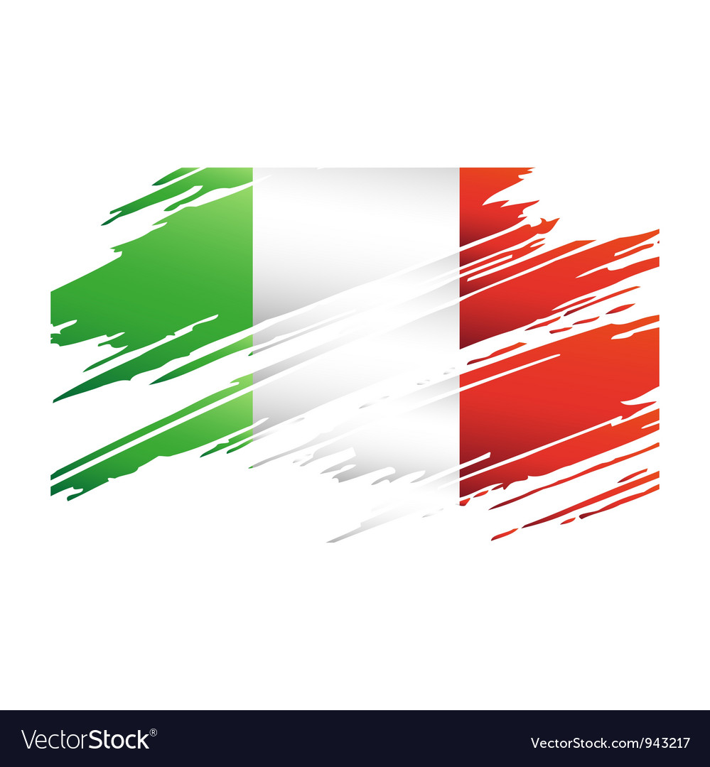 Flag italy in the form traces brush vector | Price: 1 Credit (USD $1)