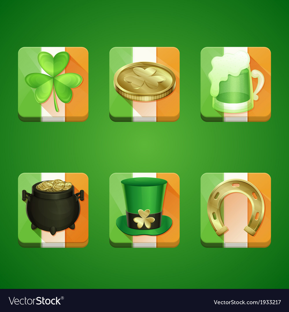 Icons st patricks day vector | Price: 3 Credit (USD $3)
