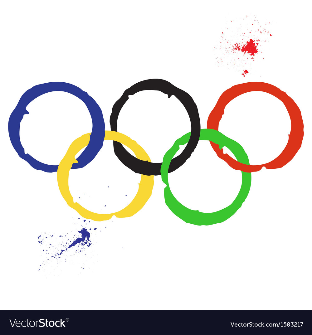 Of olympic rings vector | Price: 1 Credit (USD $1)