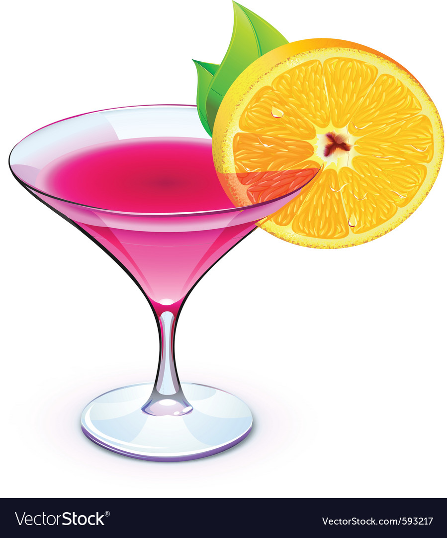 Pink cocktail vector | Price: 3 Credit (USD $3)