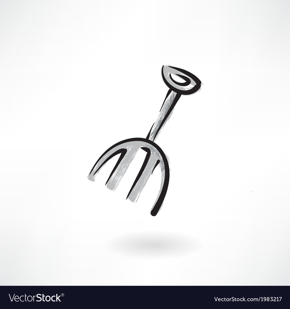 Rake grunge icon vector | Price: 1 Credit (USD $1)