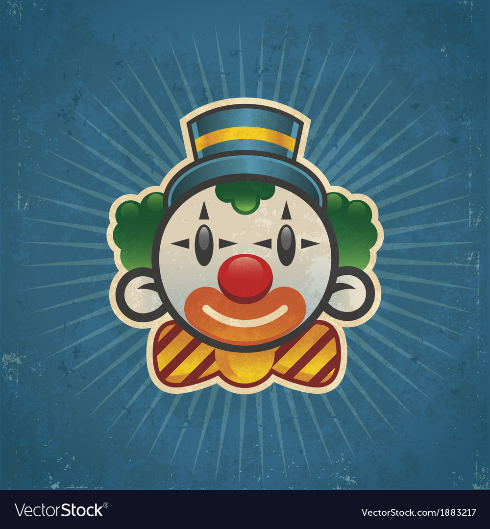 Retro birthday clown vector | Price: 1 Credit (USD $1)
