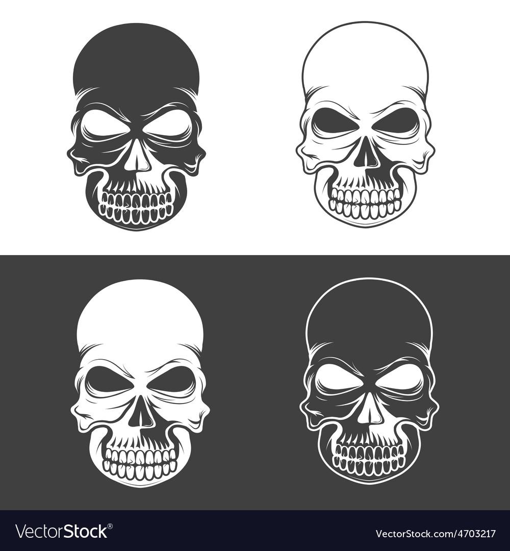 Set of skulls design template vector | Price: 1 Credit (USD $1)