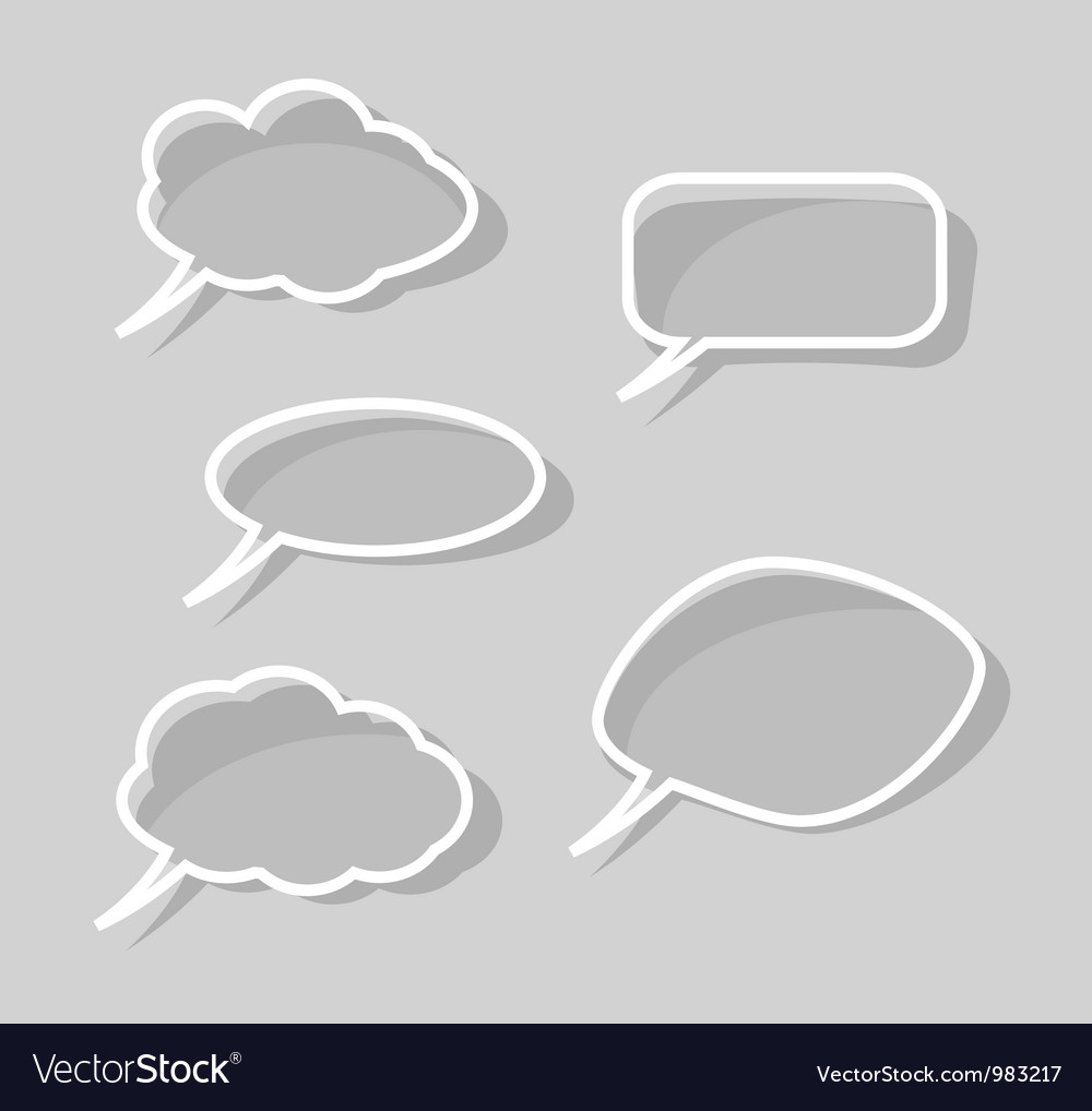 Speech bubbles isolated on gray background vector | Price: 1 Credit (USD $1)