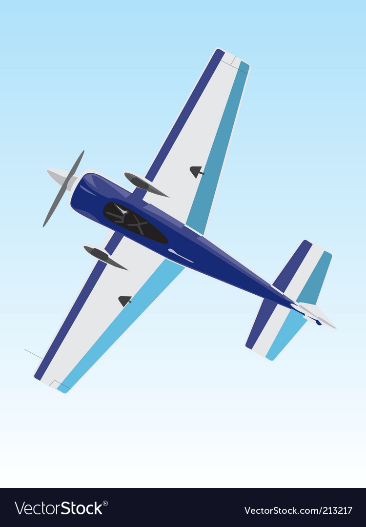 Sport airplane vector | Price: 1 Credit (USD $1)