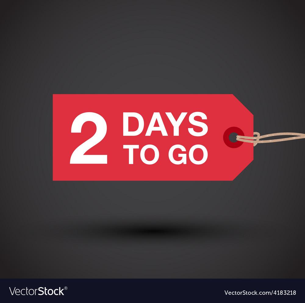 2 days left sale vector | Price: 1 Credit (USD $1)