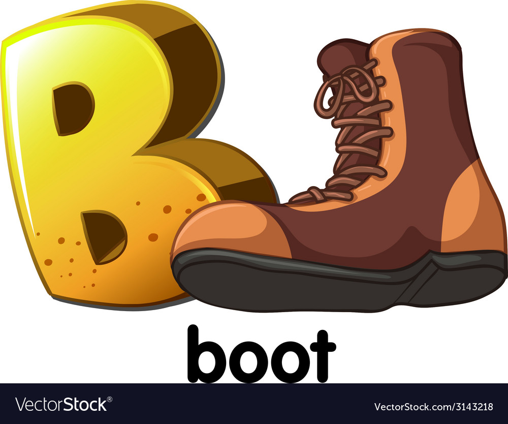 A letter b for boot vector | Price: 1 Credit (USD $1)