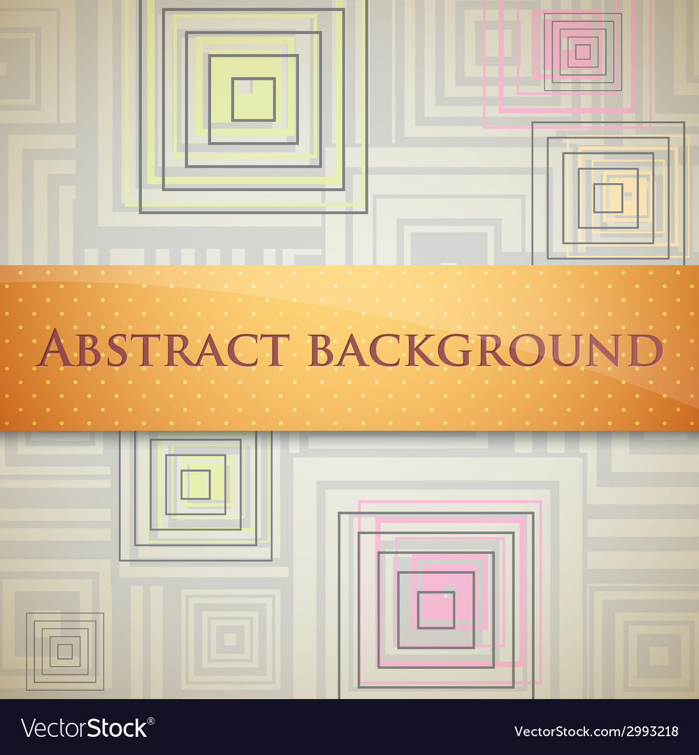 Abstract background with squares and orange label vector | Price: 1 Credit (USD $1)