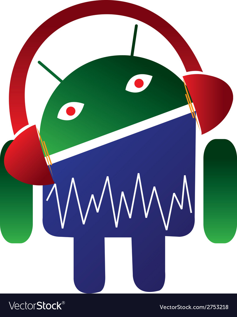 Android music logo vector | Price: 1 Credit (USD $1)