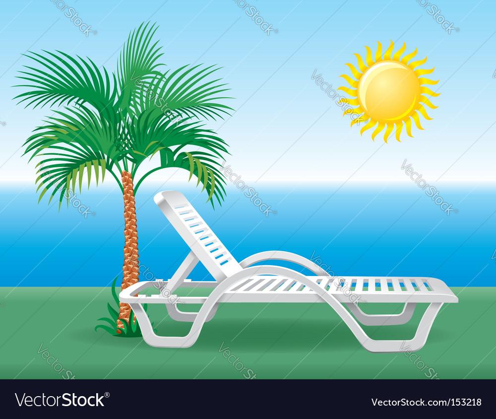 Beach chair vector | Price: 3 Credit (USD $3)