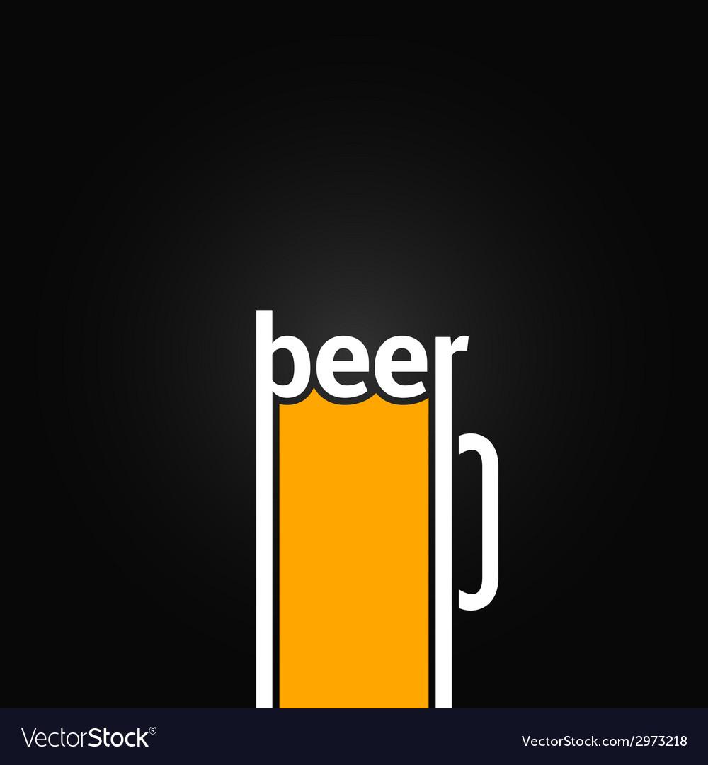 Beer glass mug design background vector   Price: 1 Credit (USD $1)
