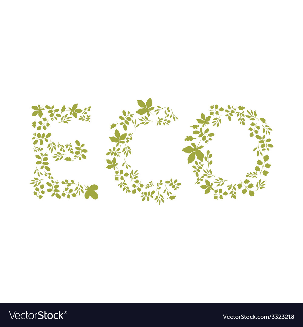 Eco template vector | Price: 1 Credit (USD $1)