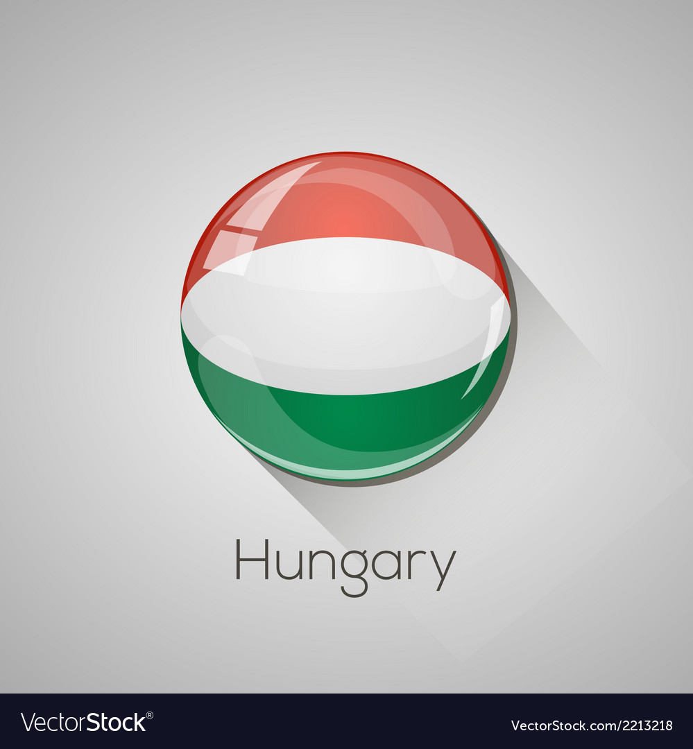 European flags set - hungary vector | Price: 1 Credit (USD $1)