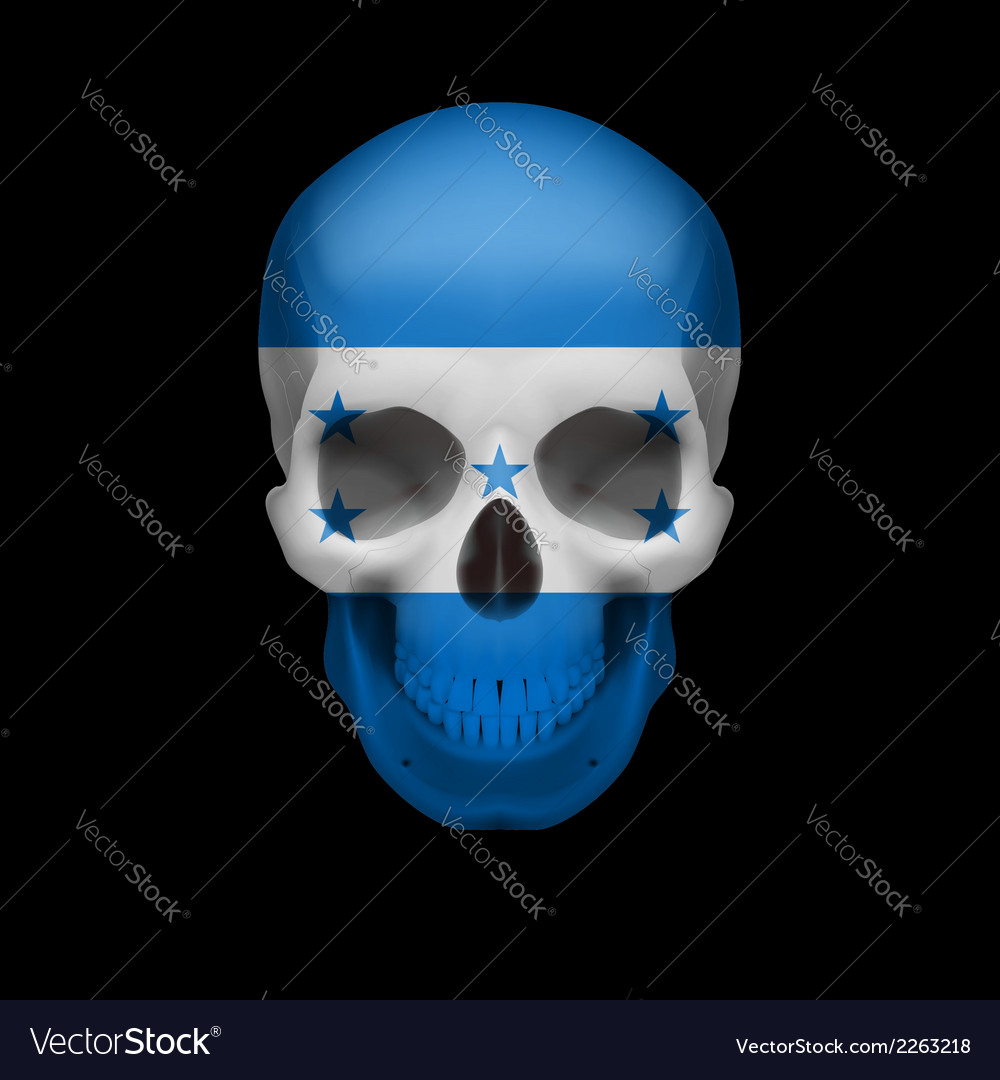 Honduras flag skull vector | Price: 1 Credit (USD $1)