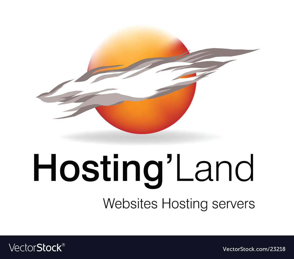 Hosting land logo vector | Price: 1 Credit (USD $1)