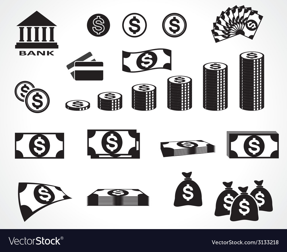 Money symbols vector