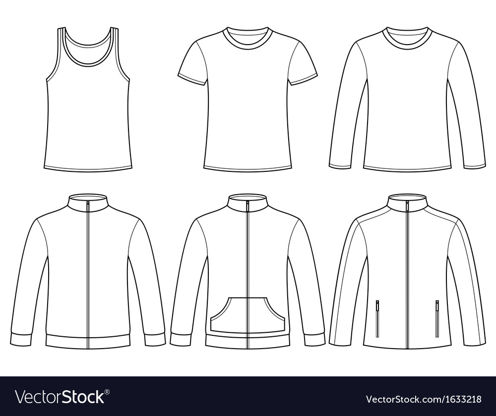 Singlet t-shirt long-sleeved t-shirt sweatshirts a vector | Price: 1 Credit (USD $1)