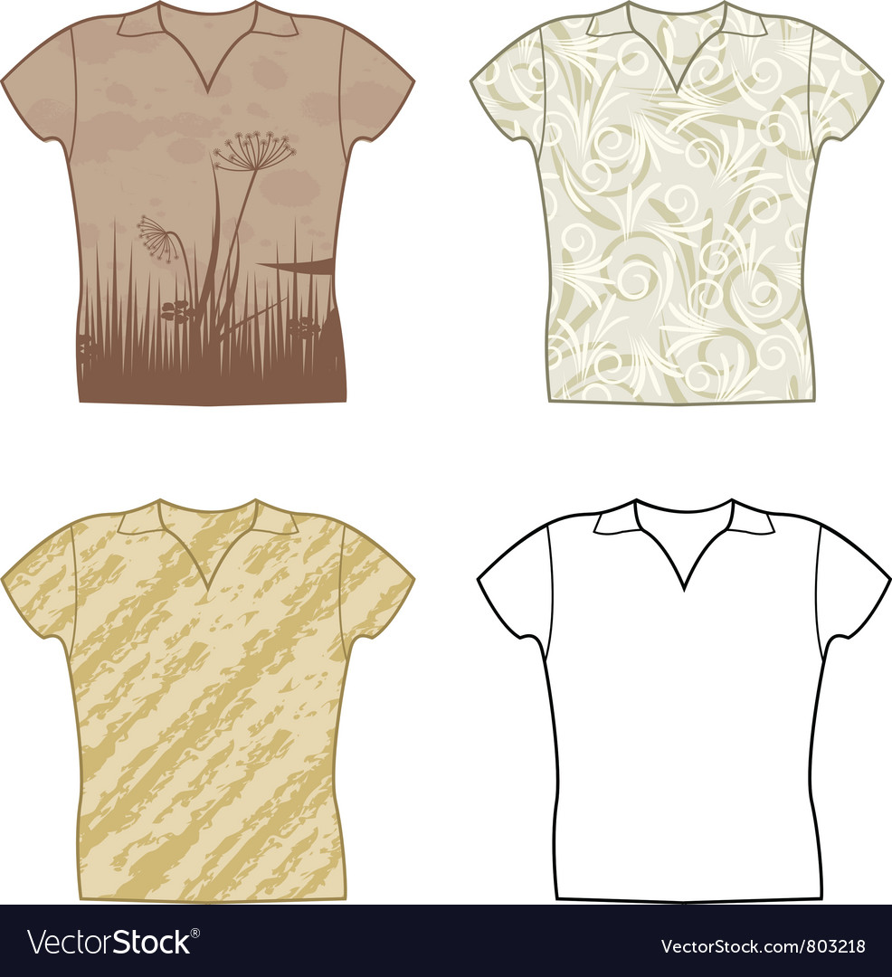 T-shirts vector | Price: 1 Credit (USD $1)