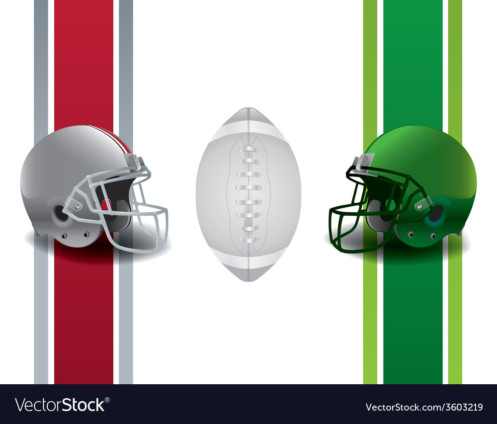 American football national championship matchup vector | Price: 1 Credit (USD $1)