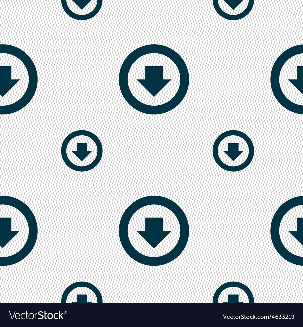 Arrow down download load backup icon sign seamless vector   Price: 1 Credit (USD $1)