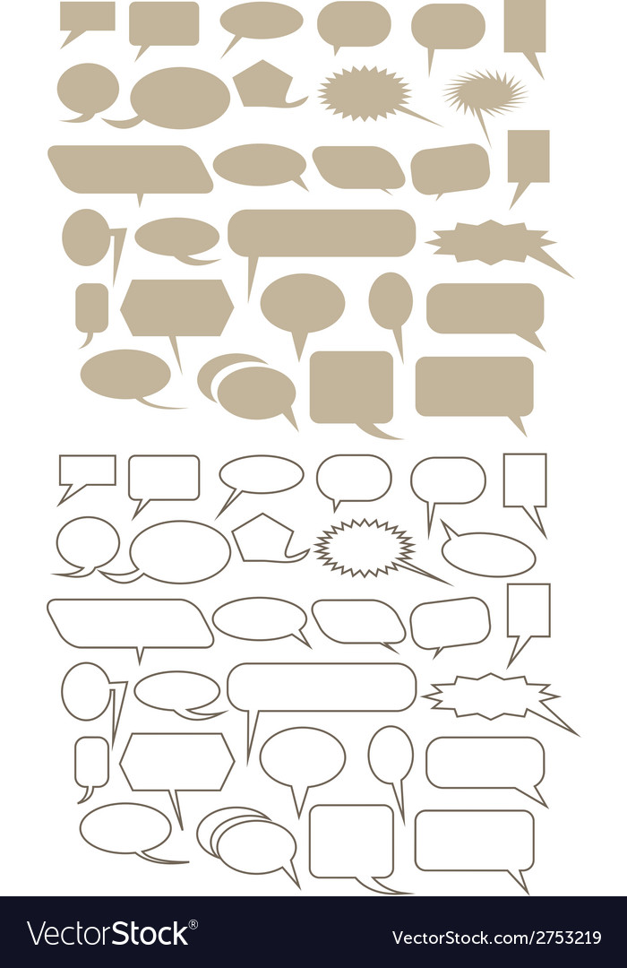 Chat bubble icon set vector | Price: 1 Credit (USD $1)