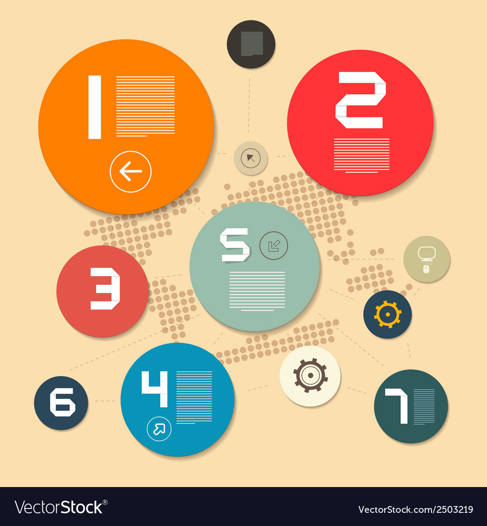 Circle paper infographics layout on light vector | Price: 1 Credit (USD $1)
