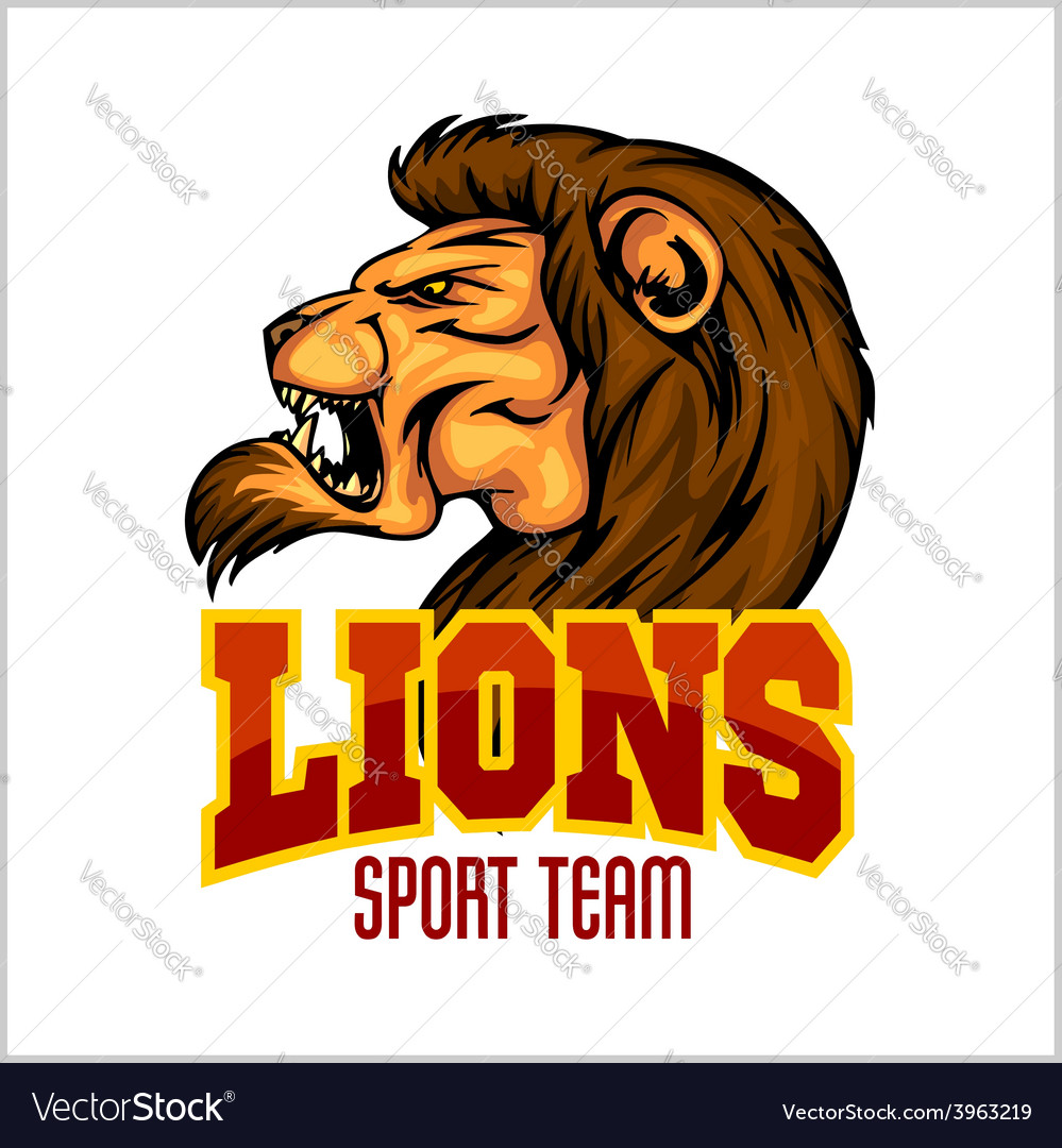 Lion head mascot - for sport vector | Price: 1 Credit (USD $1)
