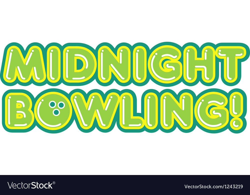 Midnight bowling vector | Price: 1 Credit (USD $1)