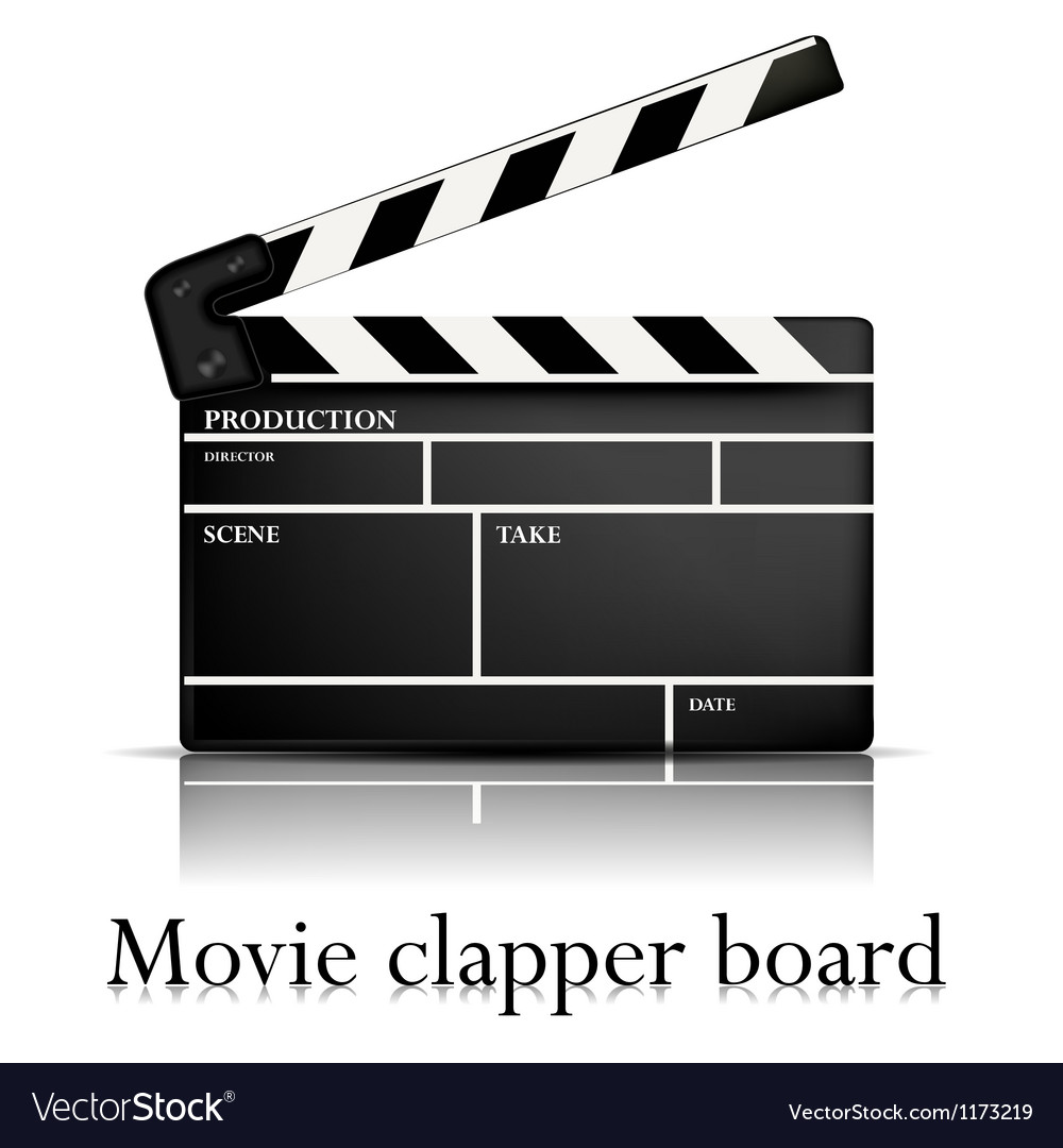 Movie clapper vector | Price: 1 Credit (USD $1)