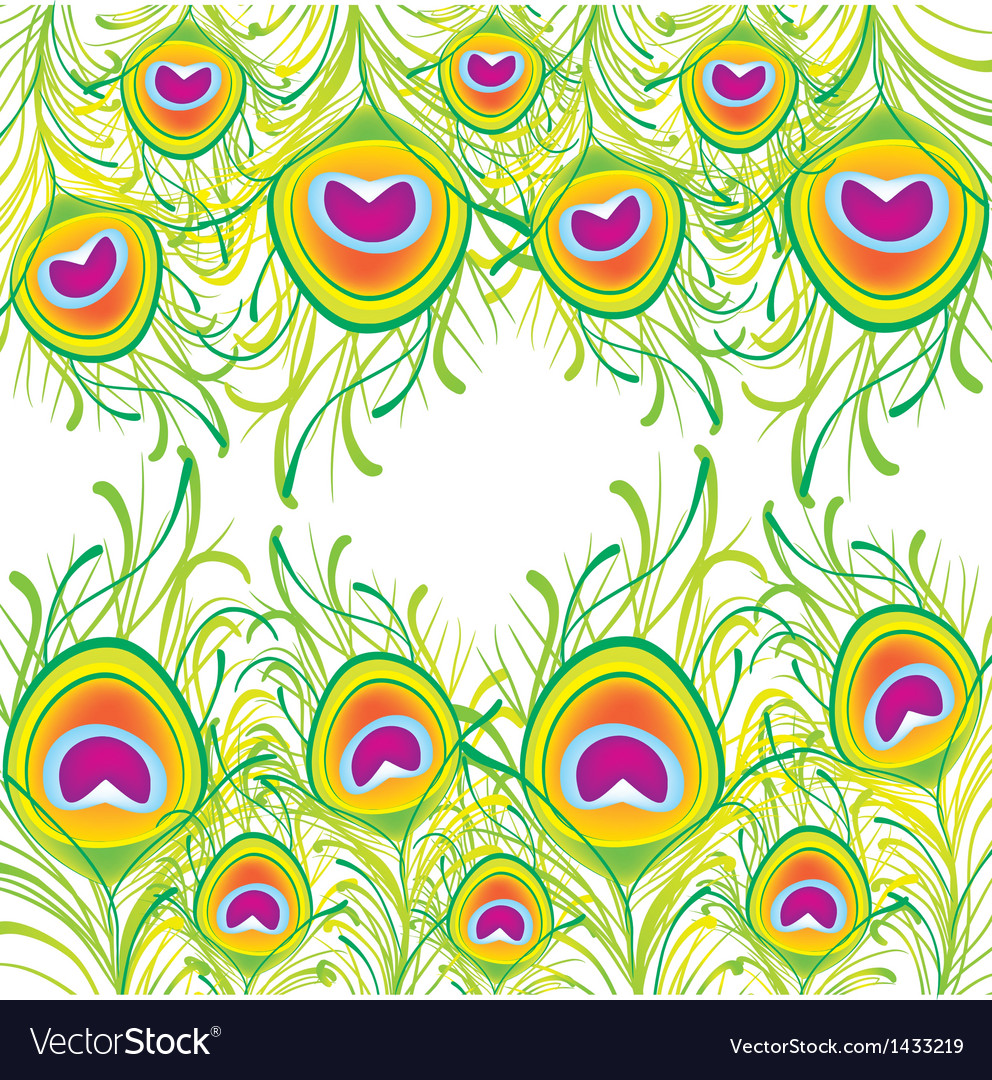 Peacock feather background vector | Price: 1 Credit (USD $1)