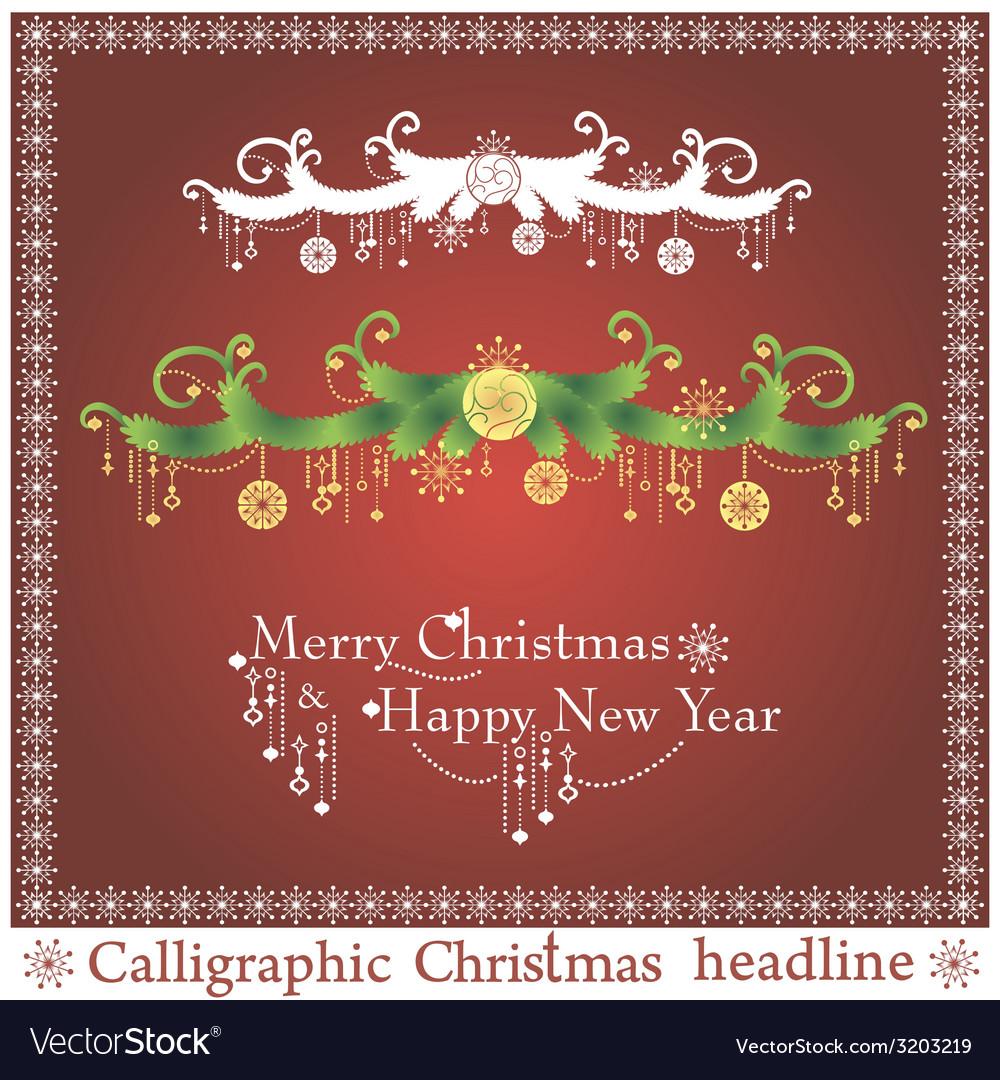 Set of christmas headlines vector | Price: 1 Credit (USD $1)