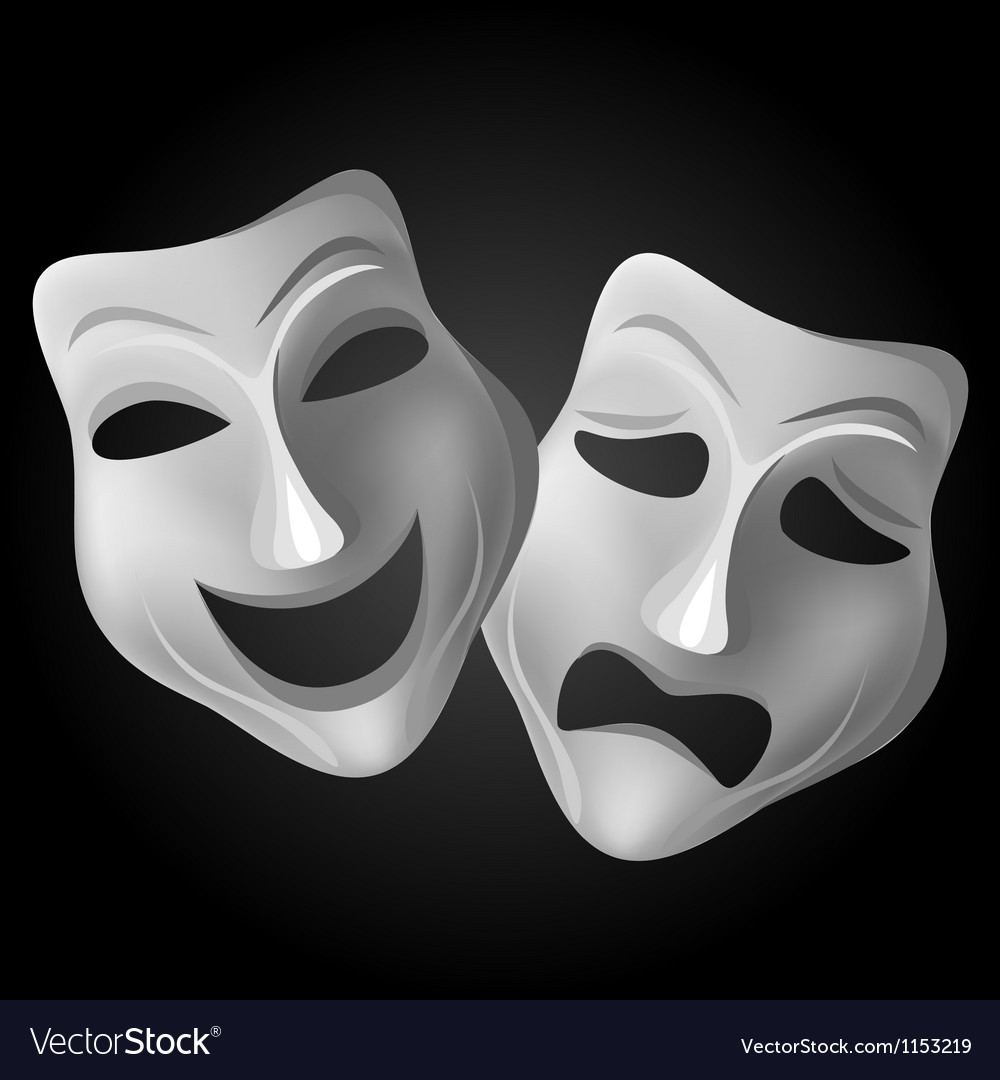 Theatre masks vector | Price: 1 Credit (USD $1)