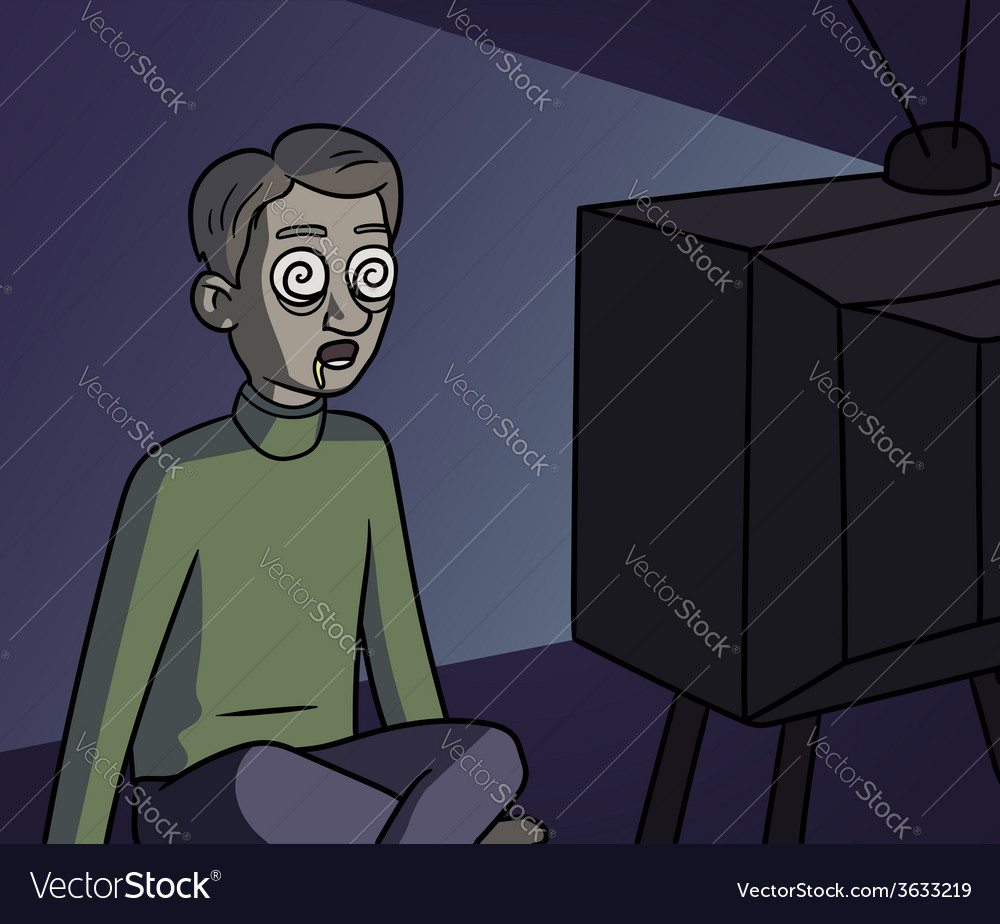 Tv zombie vector | Price: 1 Credit (USD $1)