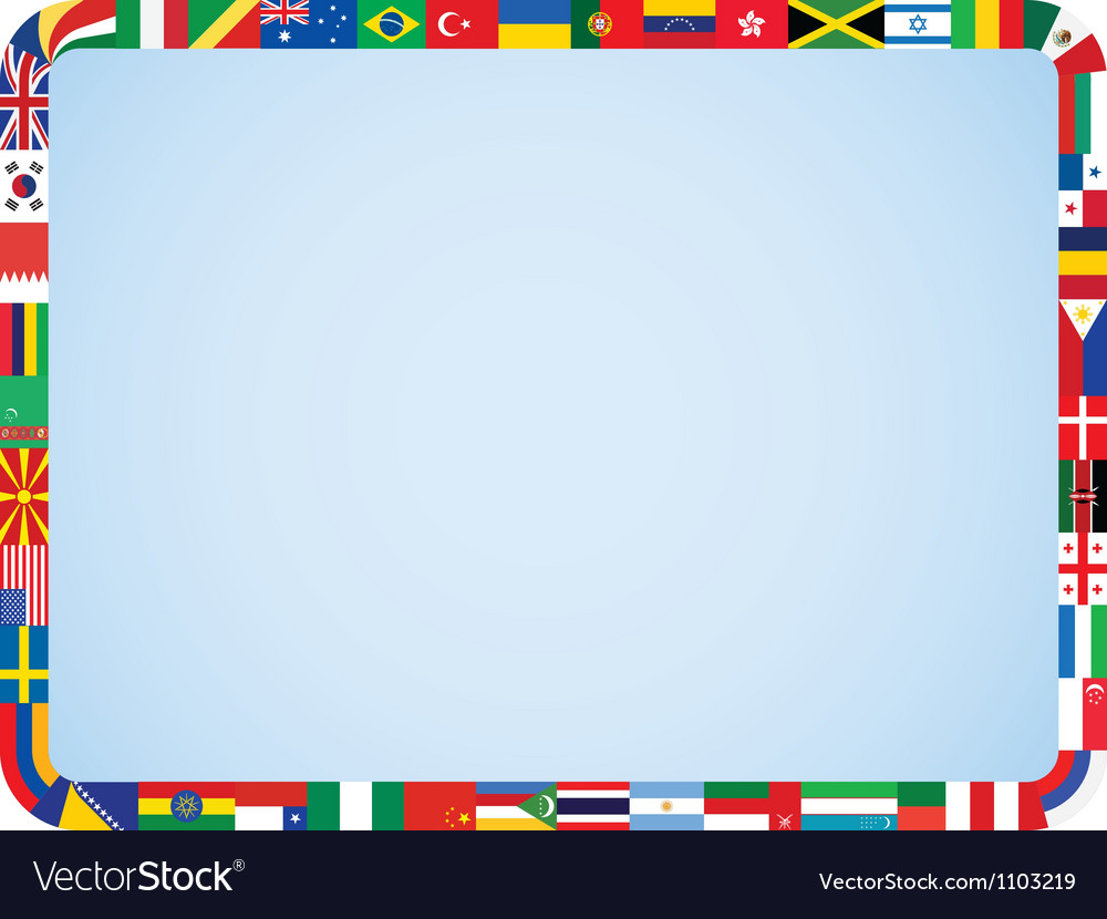 World flags frame vector | Price: 1 Credit (USD $1)