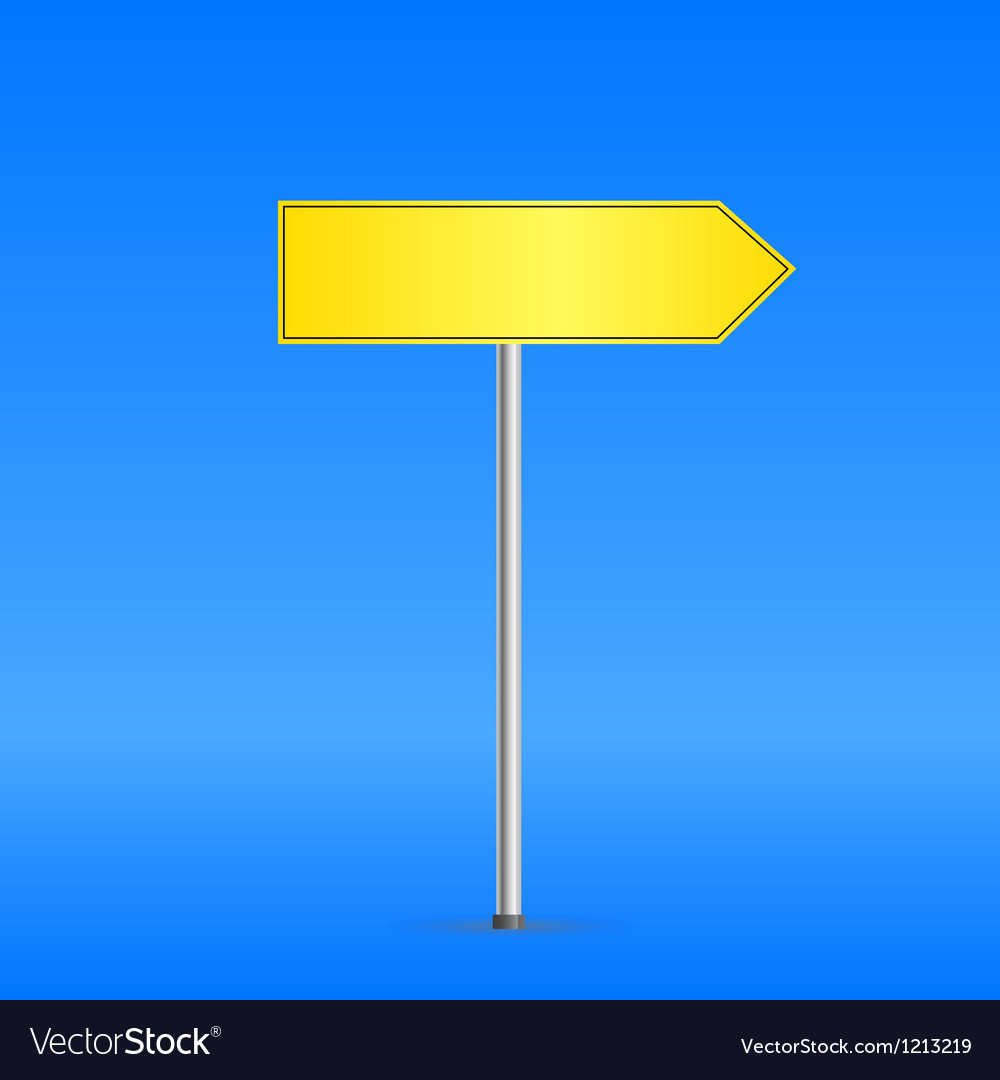 Yellow road sign vector | Price: 1 Credit (USD $1)