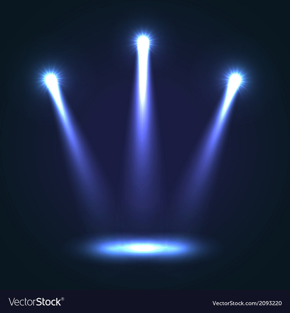 Background with three bright spotlights vector | Price: 1 Credit (USD $1)