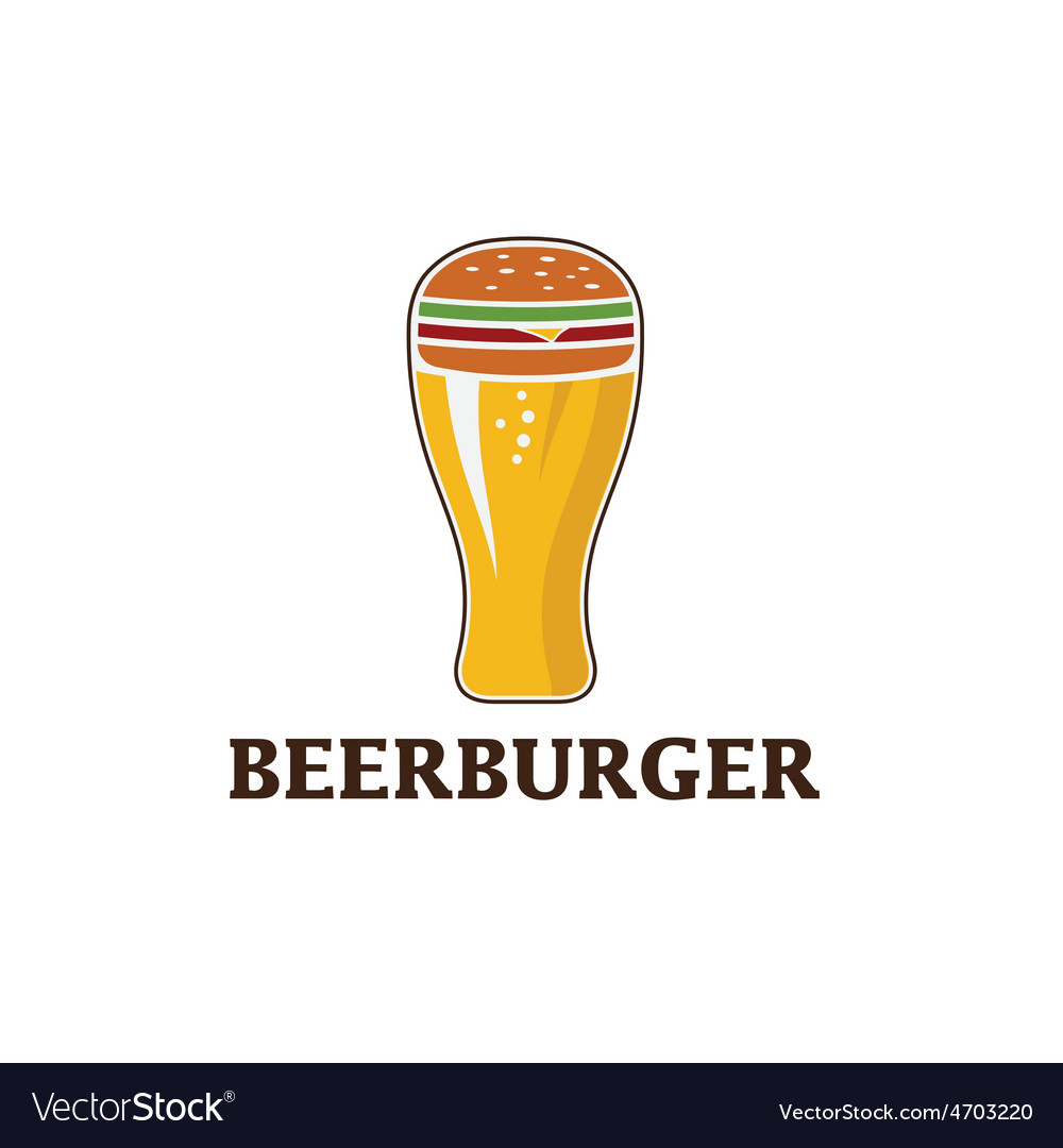 Beer and burger concept beerburger vector | Price: 1 Credit (USD $1)