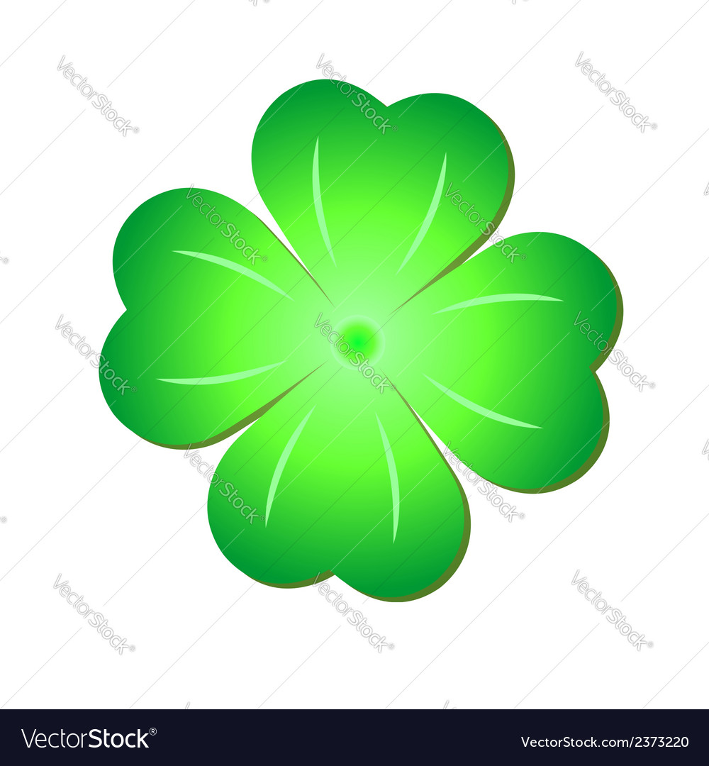 Green clover symbol vector | Price: 1 Credit (USD $1)