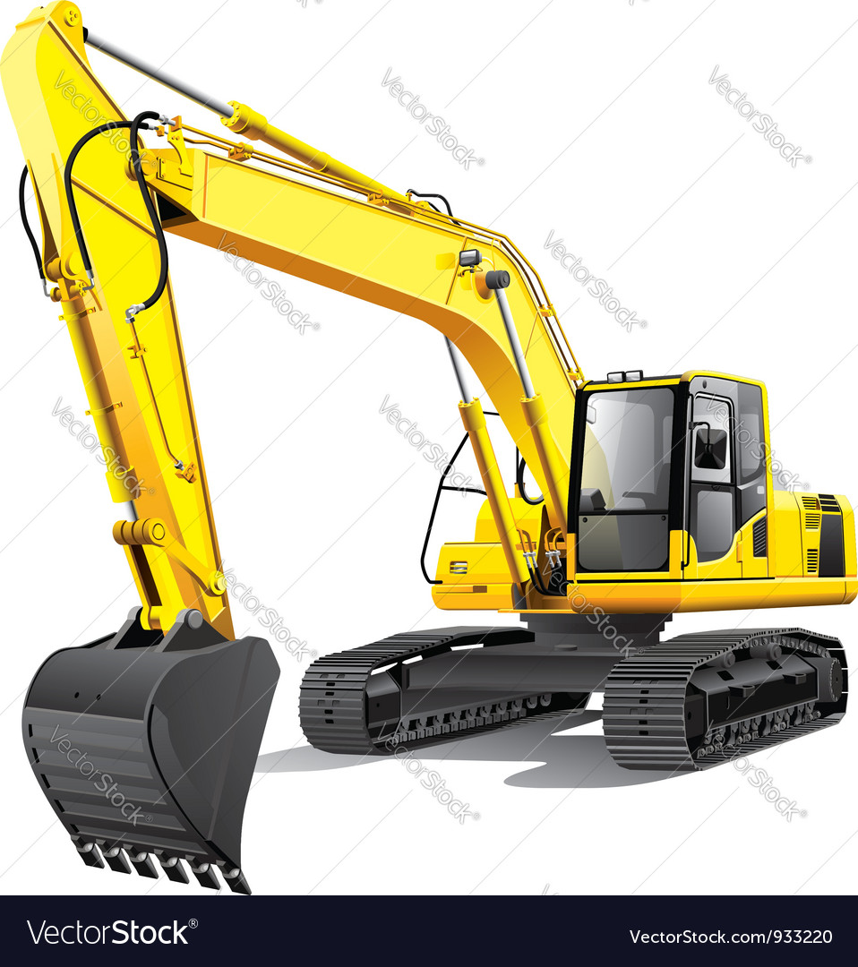 Large excavator vector | Price: 5 Credit (USD $5)