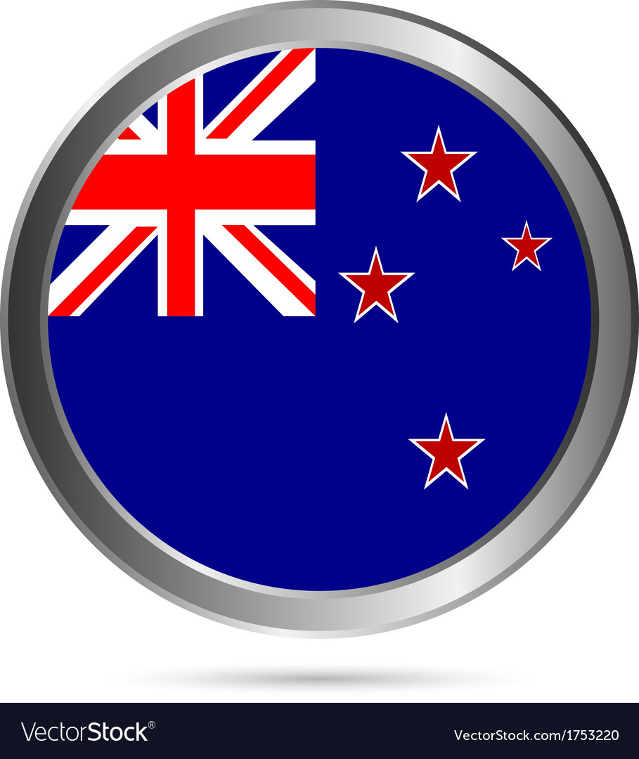New zealand flag button vector | Price: 1 Credit (USD $1)